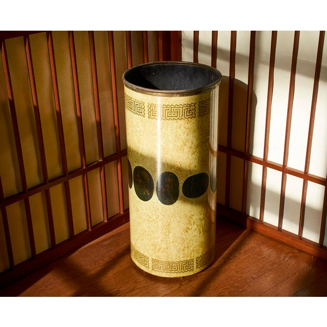 Gold Piero Fornasetti Umbrella Stand, Early Example, Circa 1950's For Sale - Image 8 of 9