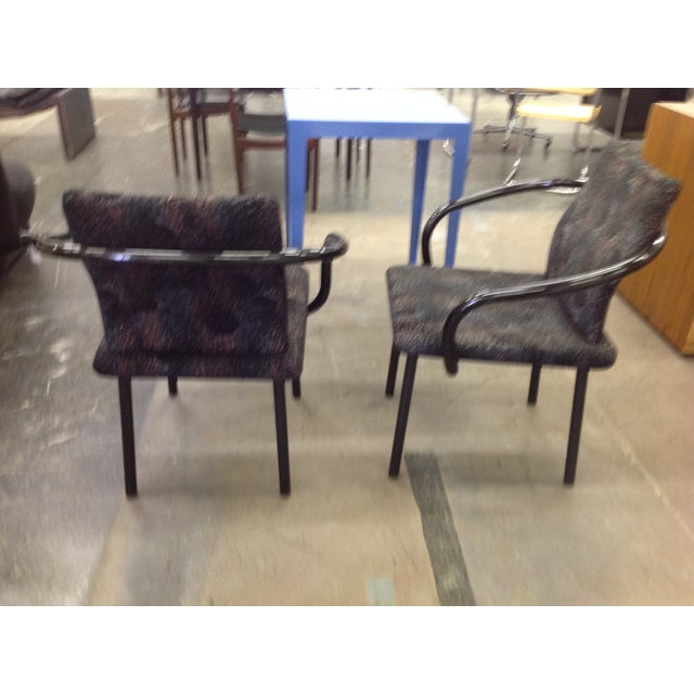 Knoll Ettore Sottsass Mandarin Chairs - A Pair - Image 3 of 9