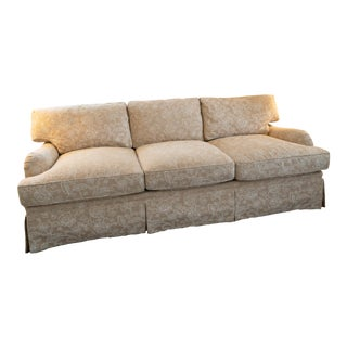 Modern J. Lambeth Crewel Work Sofa For Sale