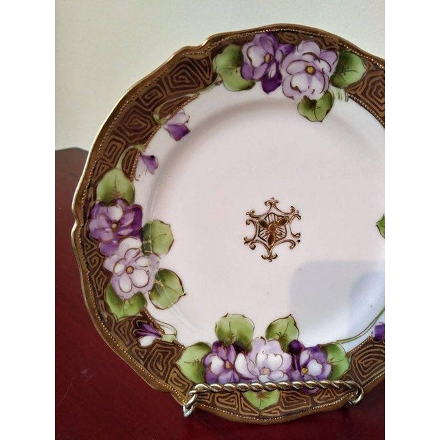 Metal 19th Century French Limoges Art Deco Plate For Sale - Image 7 of 10