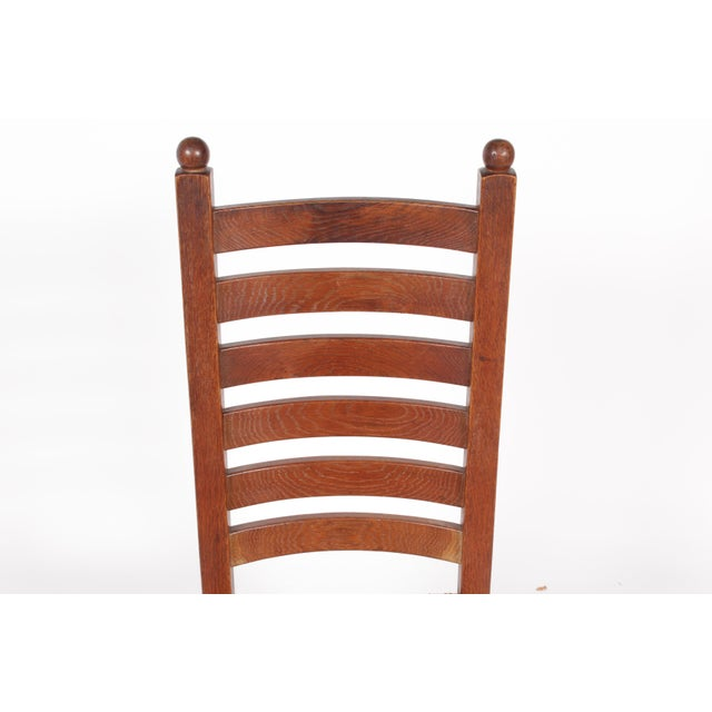 1930s Mission-Style Dining Chairs - Set of 6 - Image 4 of 11