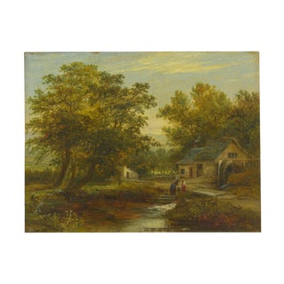 """A Small Mill"" Antique Landscape Painting by Mark Dockree (English, 1856-1901) For Sale"