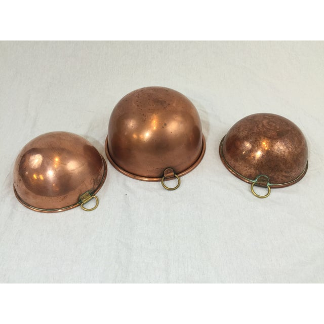 Vintage Copper Baking Bowls - Set of 3 - Image 4 of 6