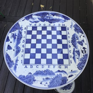 Blue & White Ceramic Game Table Set Preview