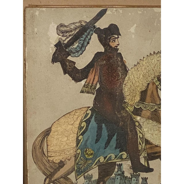 Print of Knight on a Horse, England Circa Early 19th Century For Sale - Image 4 of 5