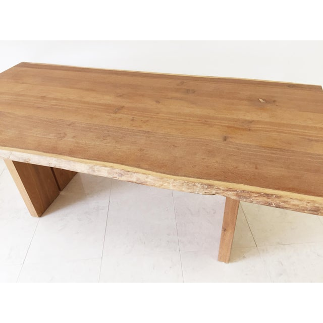White Oak Slab Live Edge Dining Table - Image 9 of 9