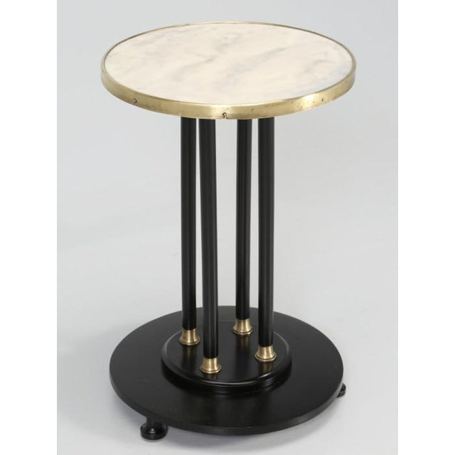 Antique French Empire Side Table Ebonized For Sale - Image 13 of 13