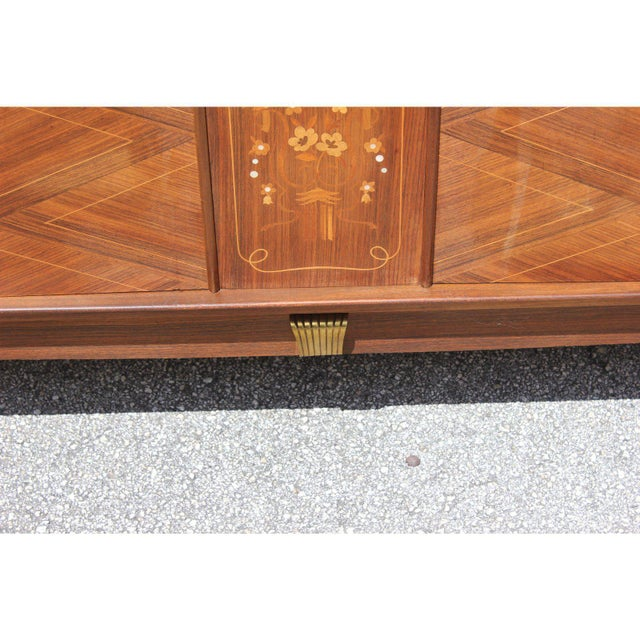 Metal 1940s French Art Deco Rosewood Sideboards or Buffet For Sale - Image 7 of 13