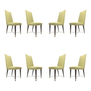Jean Royere Documented Exceptional Set of Chicest Eight Dinning Chairs For Sale