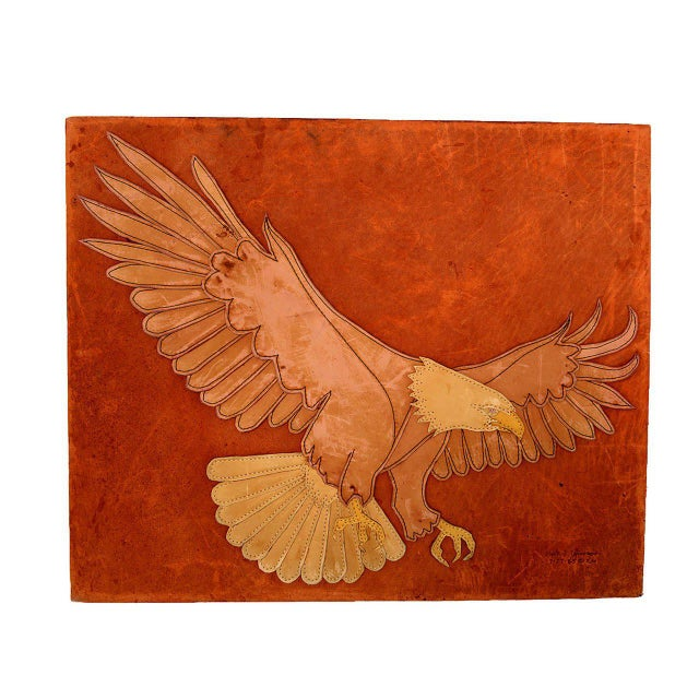 Marc O Johnson Eagle in Leather Art Work For Sale In San Diego - Image 6 of 10