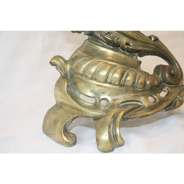 Baroque Bronze Andirons - A Pair - Image 4 of 8