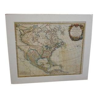 De Vaugondy Antique United States Map
