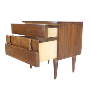 Danish Mid-Century Modern Walnut End Table or Night Stand For Sale