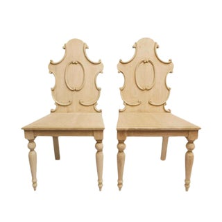 21st Century Wooden Side Chairs- A Pair For Sale
