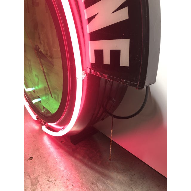 1930s Neon Clock For Sale - Image 5 of 8