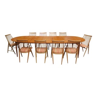 Large Mid-Century Dining Set For Sale