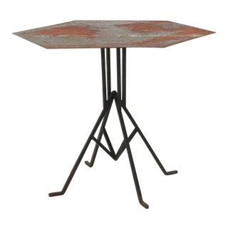 Distressed Frank Lloyd Wright & Warren McArthur Biltmore Cafe Table For Sale
