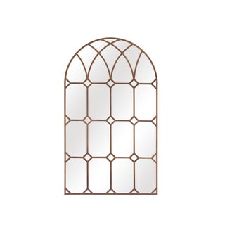 Cathedral Style Arched Window Pane Mirror For Sale