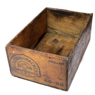 1930s Americana California Prunes Wood Shipping Box Preview