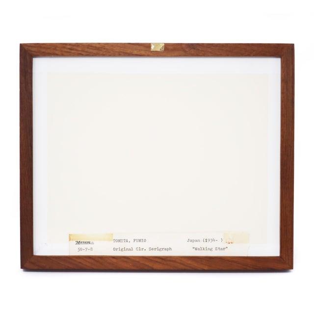 "Framed Fumio Tomita ""Walking Star"" Serigraph For Sale - Image 10 of 11"