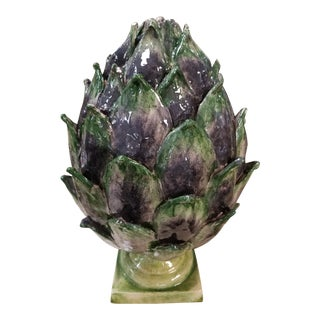 Ceramic Artichoke Figurine For Sale