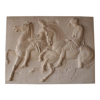 Plaster Cast Reproduction of Parthenon Frieze IX