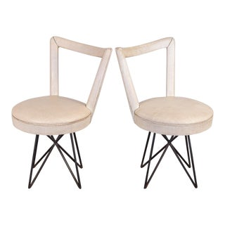 1950s Occasional Side Chairs - A Pair For Sale