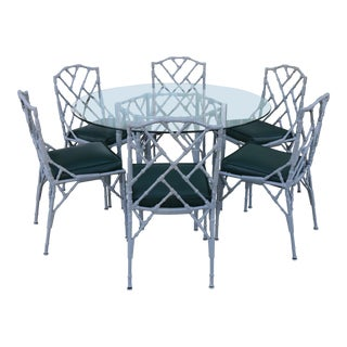 Venemen Outdoor Cast Iron Patio Set For Sale