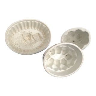 1900s Antique French Butter Molds-Set of 3 For Sale