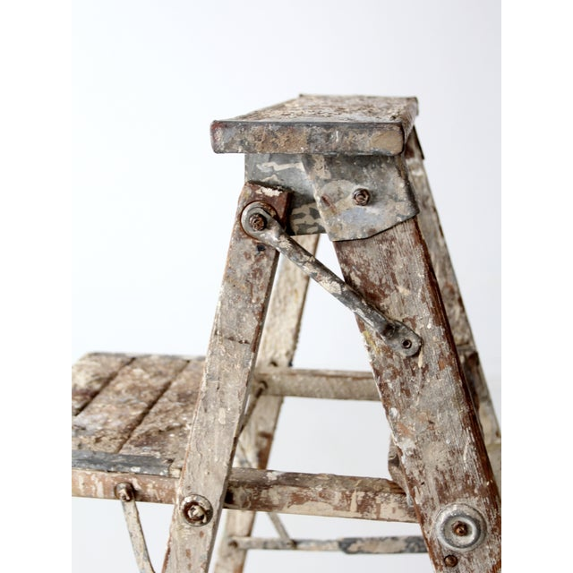 Vintage Rustic Wooden Painter's Ladder - Image 10 of 11