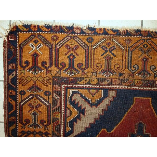 Antique Turkish Anatolian Rug - 4′1″ × 9′1″ - Image 10 of 10