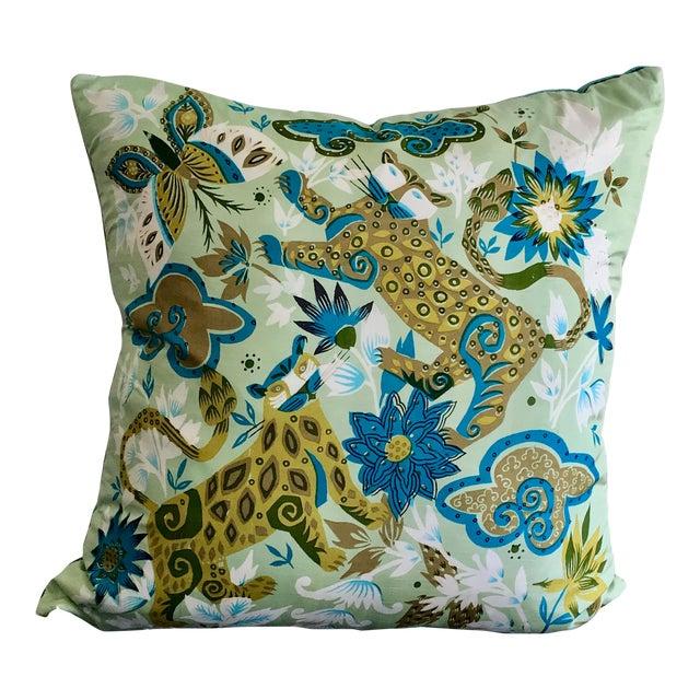 Vintage Scarf Decorative Pillow For Sale