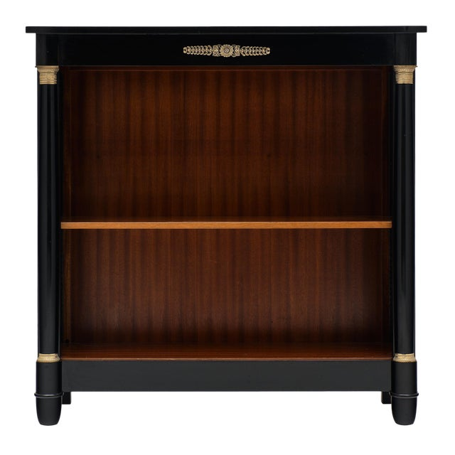 French Empire Style Ebonized Bookcase For Sale