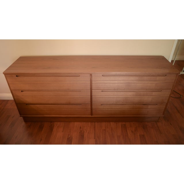 Solid teak Danish modern dresser from Scan Design. See matching dresser and my entire Danish Modern collection. Heavy...