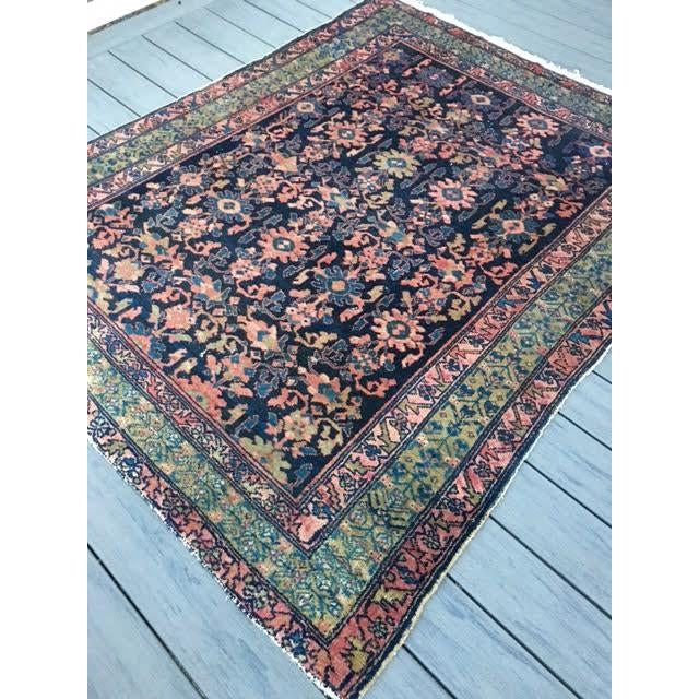 "Antique Persian Hamadan Rug - 5'4"" X 6' - Image 3 of 10"