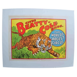 Clyde Beatty-Cole Bros. Tiger Poster #3