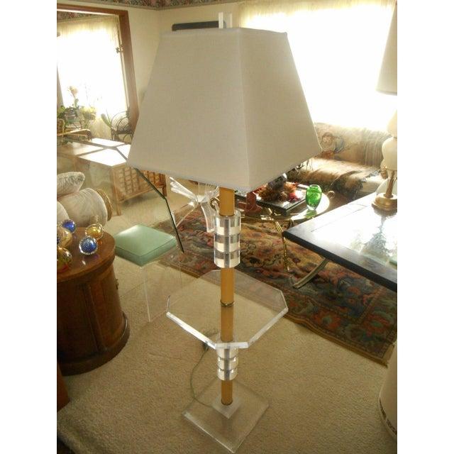 Mid-Century Modern Lucite Floor Lamp - Image 5 of 7
