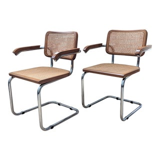 Marcel Breuer Cesca Style Chairs - a Pair For Sale