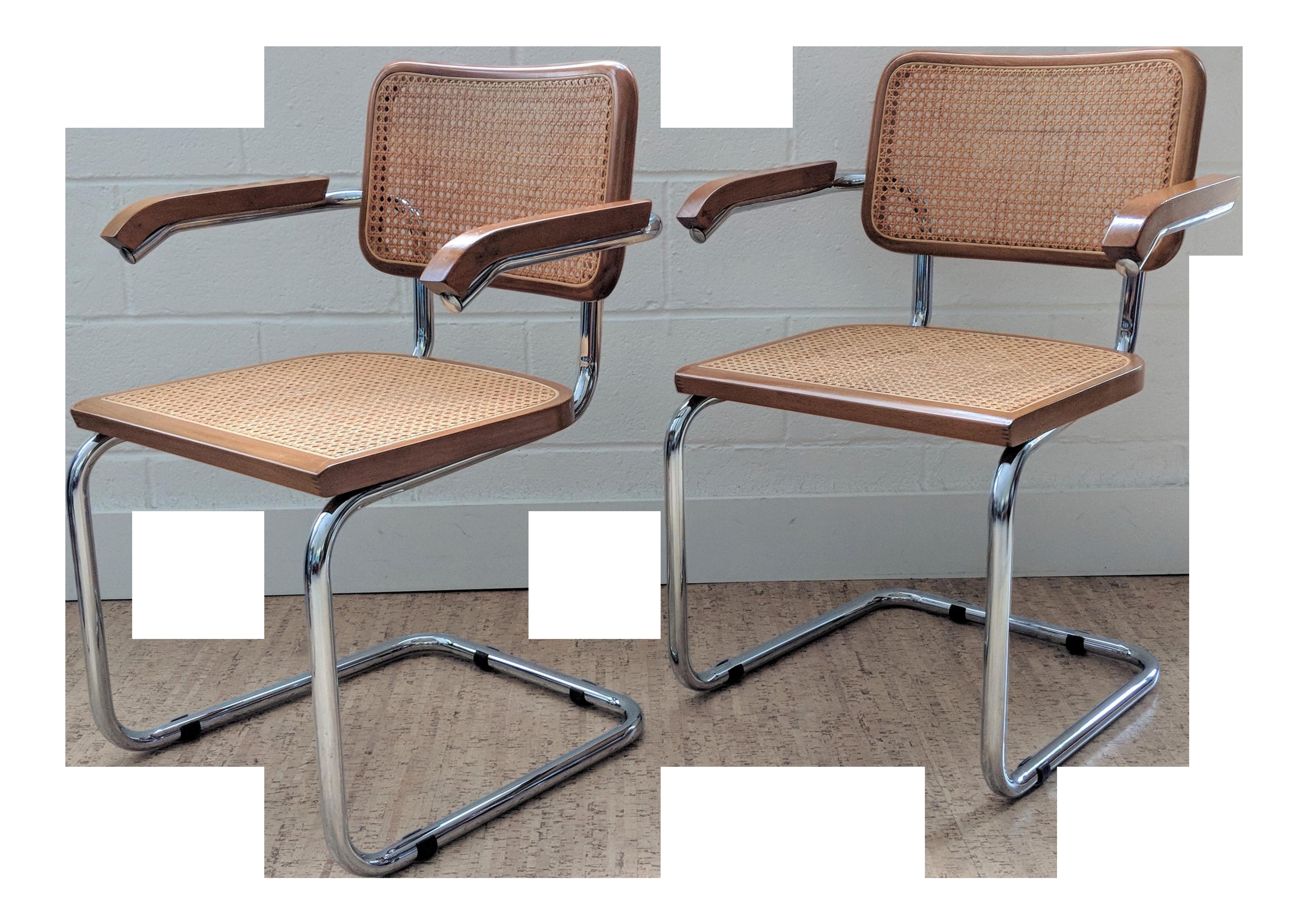 Marcel Breuer Cesca Style Chairs   A Pair