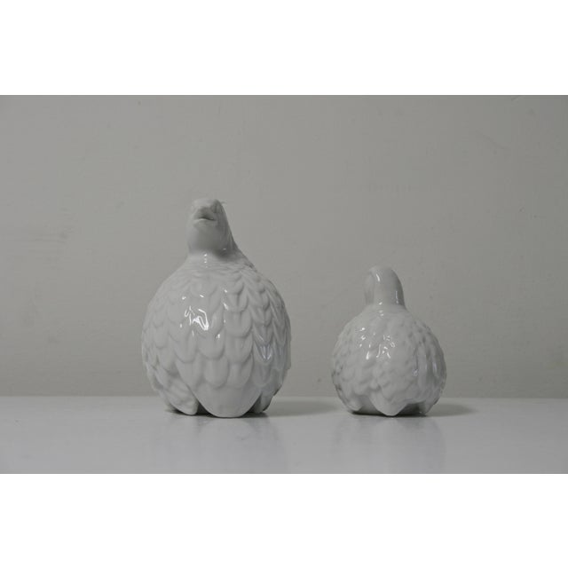 This set of 2 Mid Century Modern white porcelain partridge bird figurines are a lovely set to add to your home. Perfect on...