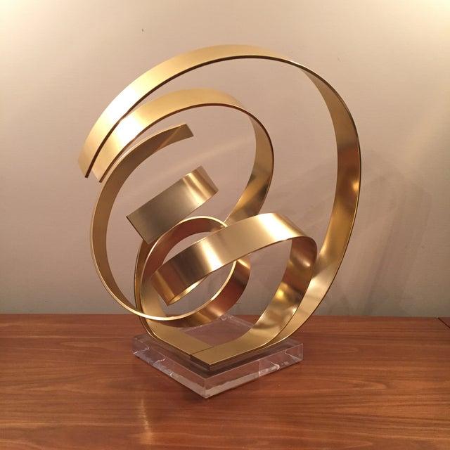 Abstract Dan Murphy Aluminum & Lucite Sculpture - Image 5 of 6