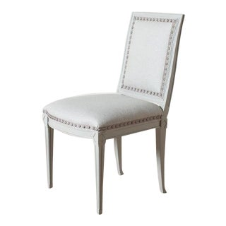 Regency Dove Gray Amsterdam Dining Chair For Sale