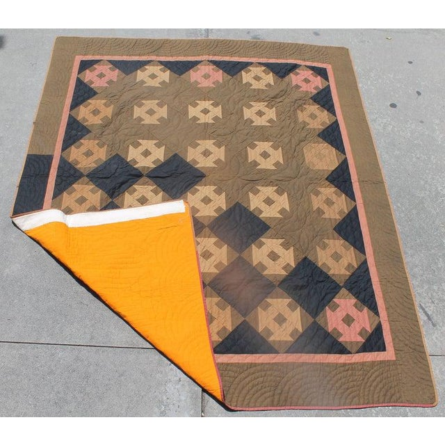 Late 19th Century 19th Century Amish Hole in the Barn Door Quilt, Dated 1890 For Sale - Image 5 of 8