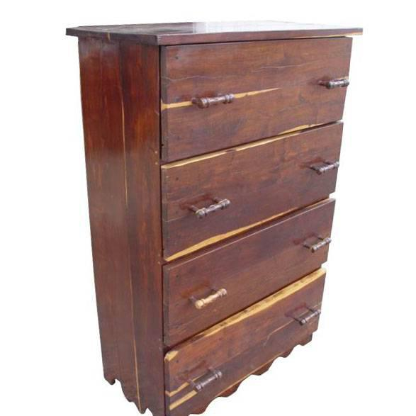 Vintage Solid Wood Dresser Chest Of Drawers Chairish