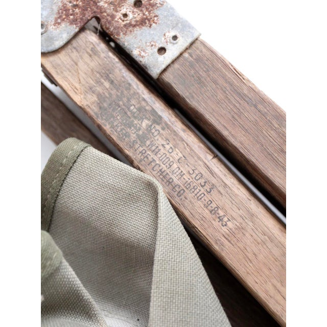 Vintage 1940s Army Cot For Sale - Image 10 of 12