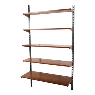 Vintage 1960s Kai Kristiansen for Feldballes Mobelfabrik Denmark Teak Wall Unit For Sale
