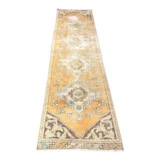 1960s Vintage Anatolian Rug - 2′3″ × 9′3″ For Sale