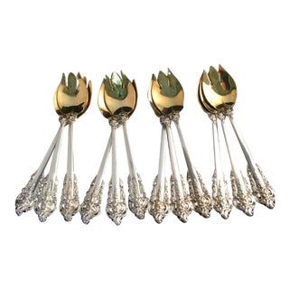 "Wallace & Sons Sterling ""Grande Baroque"" Ice Cream Forks - Set of 12 For Sale"
