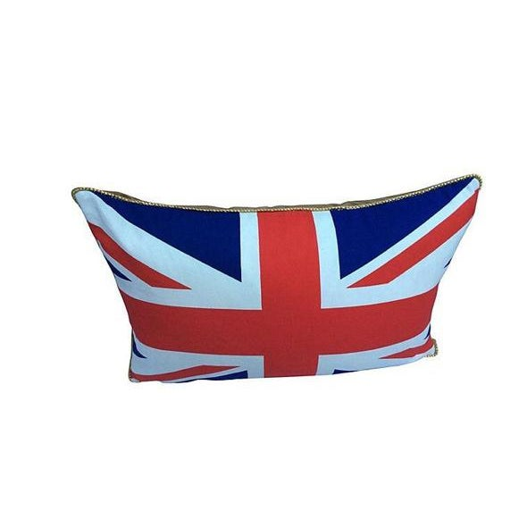 2010s British Union Jack Pillow W/ Gold Cording For Sale - Image 5 of 6