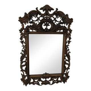 Chippendale Carved Wood Frame Mirror For Sale